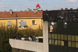 L'évacuation du squat à Bologne