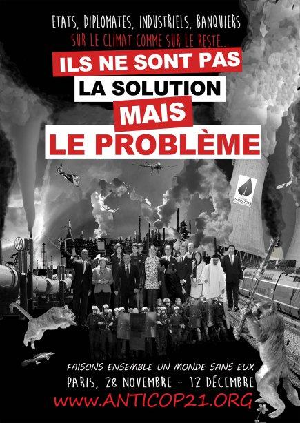Affiche de Paris-Luttes.info contre la COP