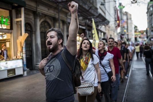 La manifestation à Istanbul