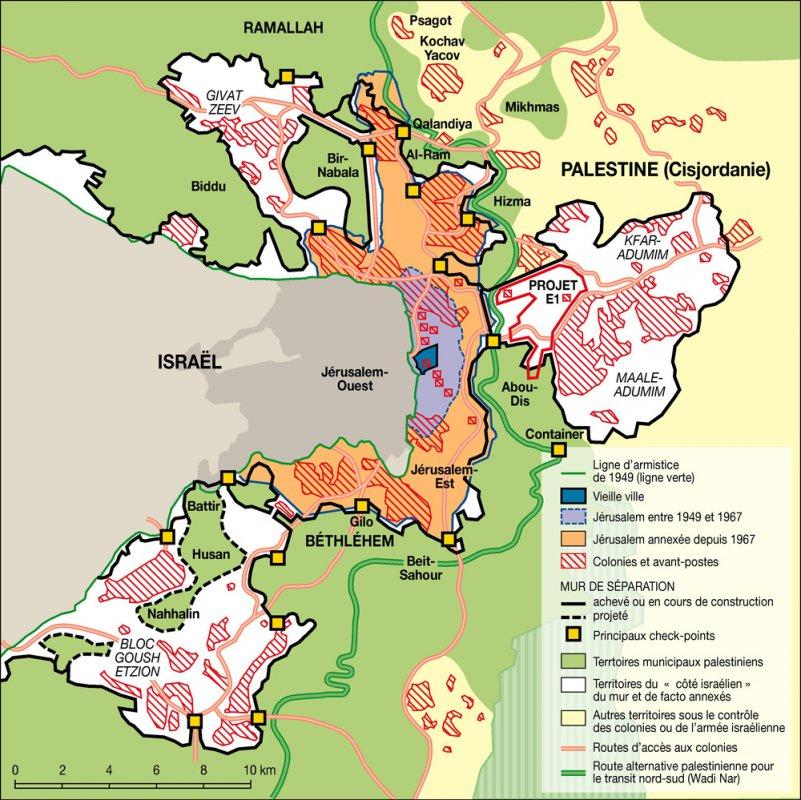 Le processus d'annexion de Jérusalem-Est