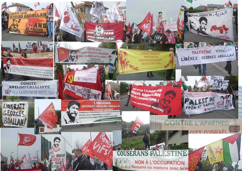 Les banderoles de la manifestation du 24 à Lannemezan