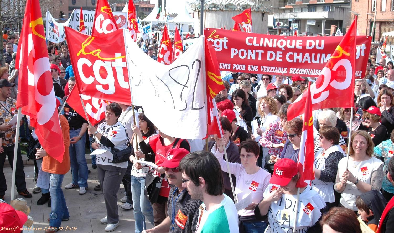Les grévistes manifestant