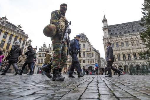 Déploiement militaire à Bruxelles