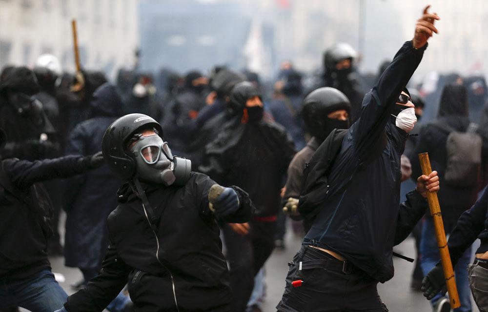 Les affrontements de mai 2015 à Milan