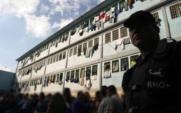 Une prison oú sont détenus des membres des FARC