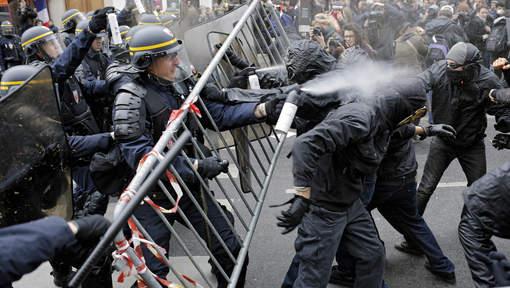 Incidents place de la République ce dimanche