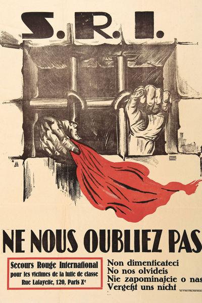 Affiche de la section française du SRI de l'entre-deux-guerres