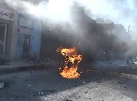 L'une des bombes islamistes contre Tal Abyad ce 22 novembre.