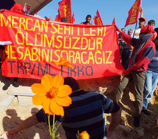 Funérailles des combattants tués à Mercan