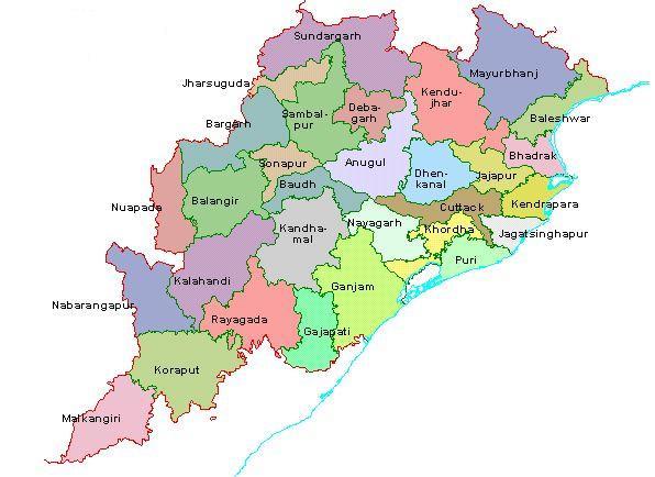 L'état d'Odisha