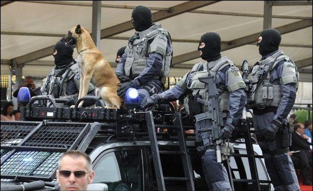Membres des les unités spéciales de la police fédérale