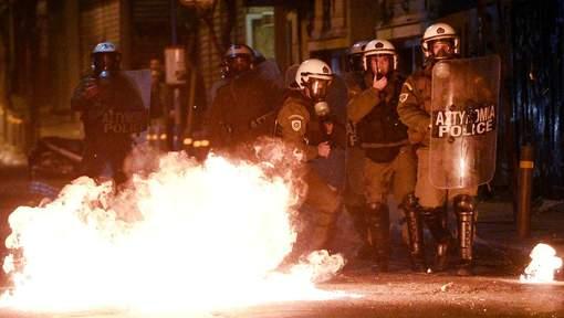 Affrontements à Athènes
