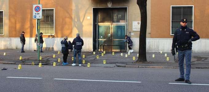 Bombe à l'école de police de Brescia
