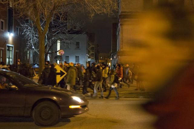 La manifestation à Montréal