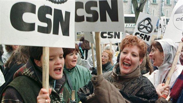 Manifestation de la CSN