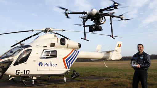 Le premier drone de la police fédérale