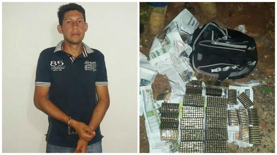 José Domingo Duran Martinez et les munitions saisies