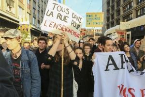 Enseignants genevois en grève le mois passé