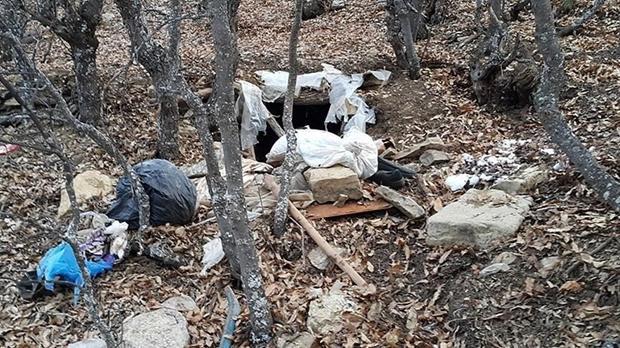Un des refuges souterrains découverts par les commandos turcs