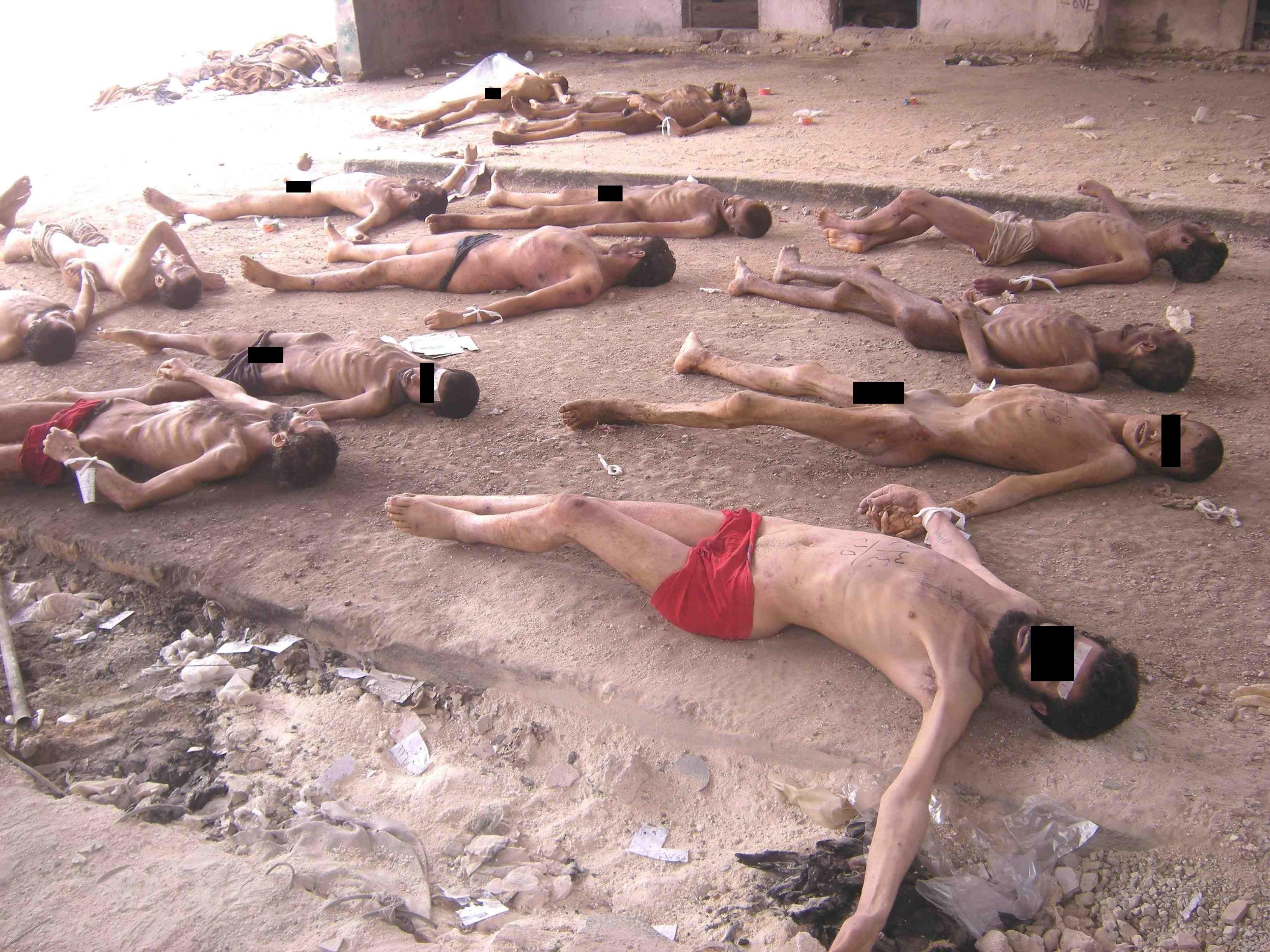 Dépouilles de prisonniers politiques syriens
