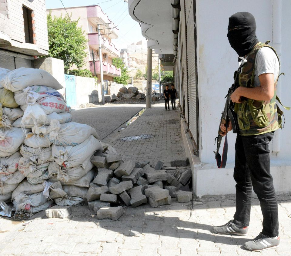 Insurgé kurde à Cizre