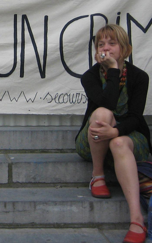 Florence, lors d'un rassemblement au palais de justice