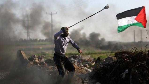 Manifestant palestinien