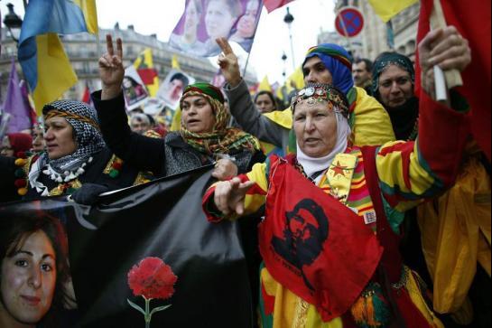 La manifestation kurde à Paris