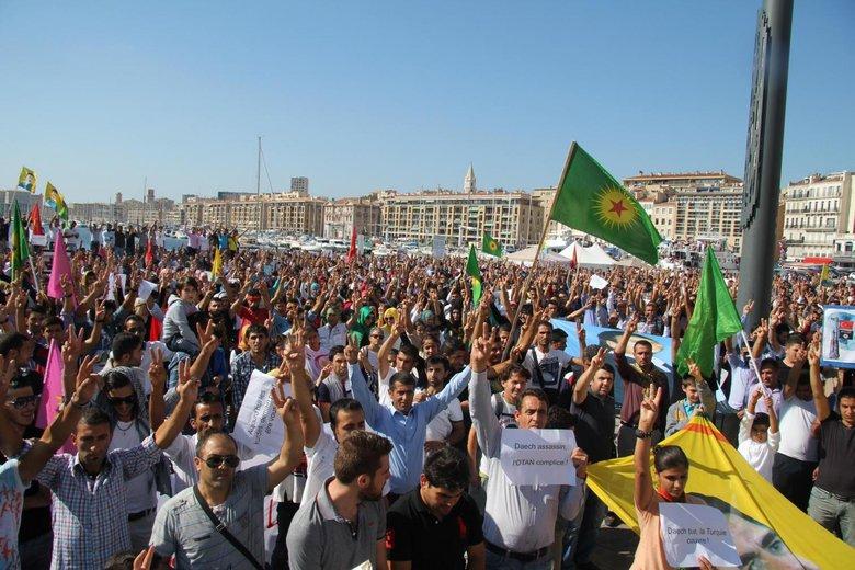 Manifestation des Kurdes de Marseille