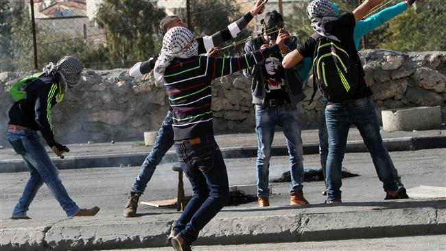Manifestants palestiniens en Cisjordanie