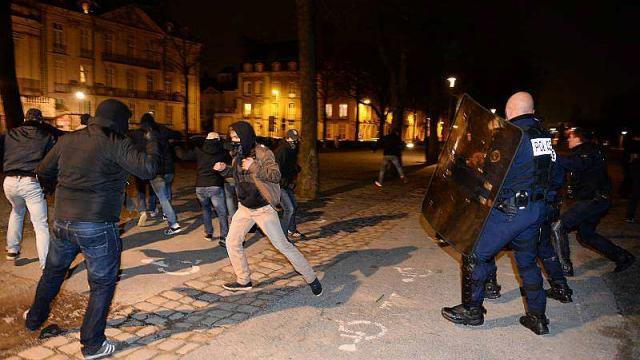 Incidents à Nantes