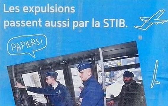 Affiche contre la STIB à Bruxelles.