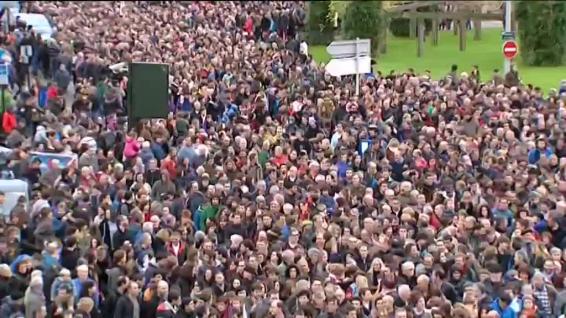 La manifestation de Bayonne