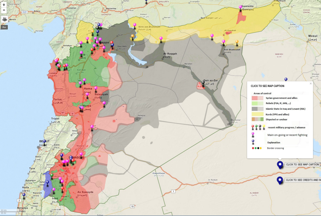 Situation syrienne au 3 janvier 2016
