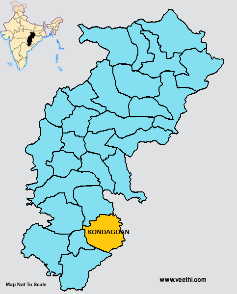 District de Kondagaon dans le Chhattisgarh