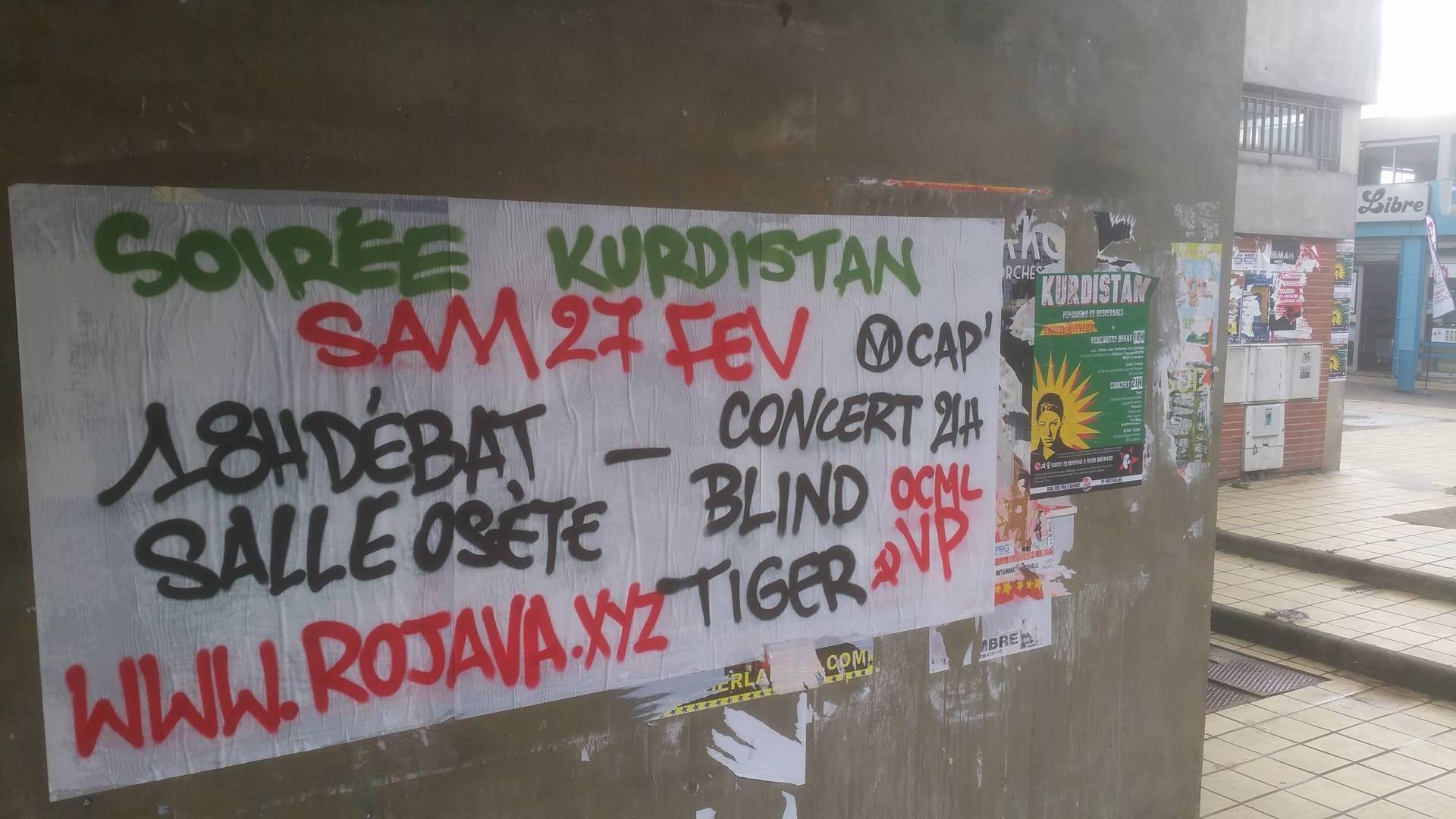 Toulouse : Soirée de soutien au Rojava ce samedi
