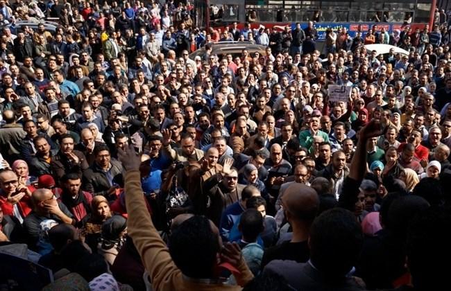 La manifestation des médecins au Caire
