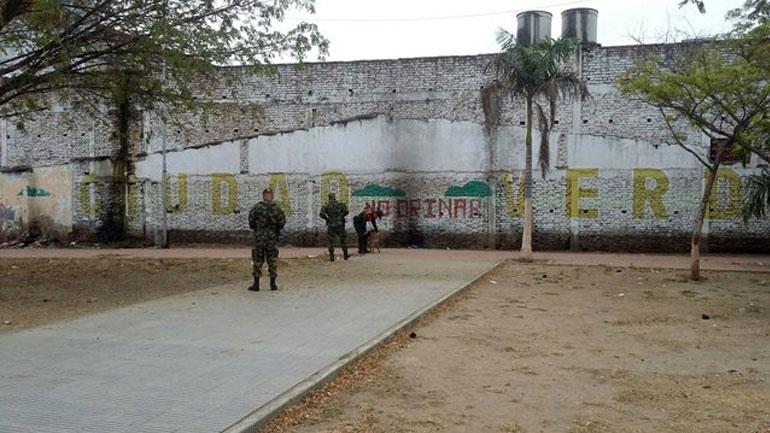 Le lieu de l'explosion