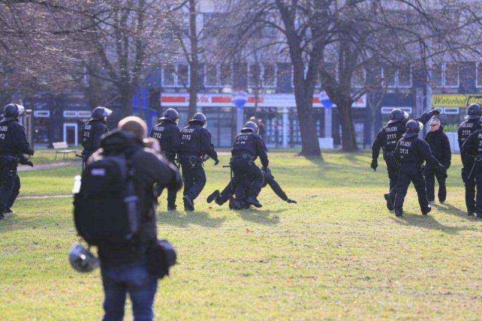 Une arrestation à Dresde