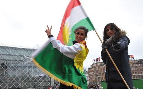 Joanna Palani lors d'une manifestation à Copenhague