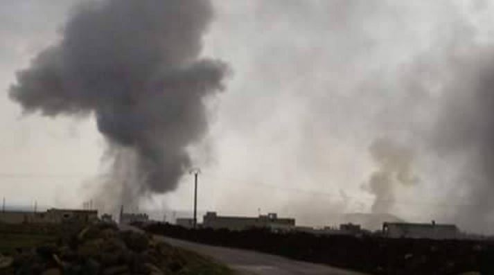 Bombardements à Menagh.