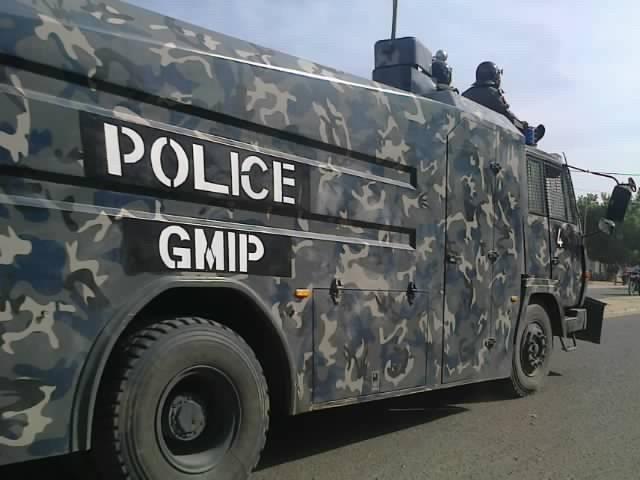 Police antiémeute à N'Djamena