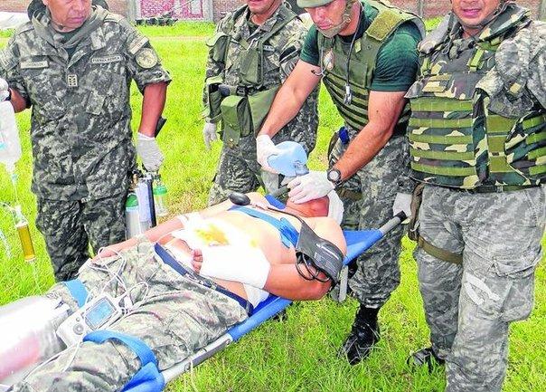 L'évacuation du militaire blessé samedi