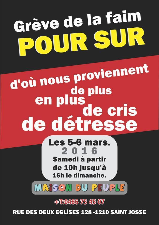 Grève solidaire avec Sur ce week-end à Bruxelles