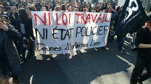 Manifestants à Lyon