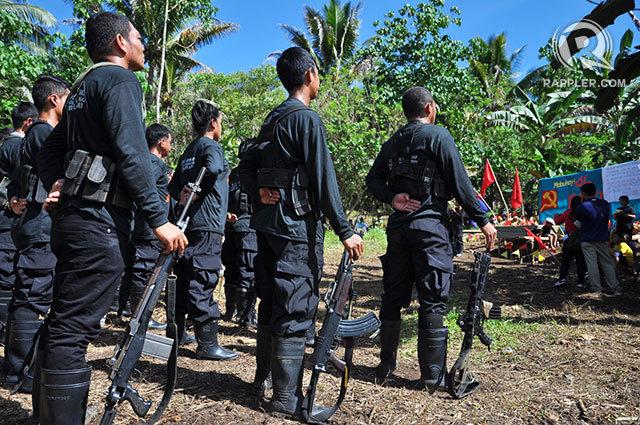 Combattants maoïstes à Mindanao