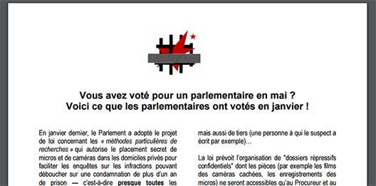 Tract contre les MPR, en 2003
