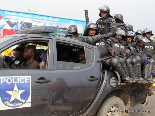 Membres de la PNC (Police Nationale Congolaise)