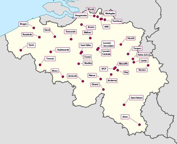 Les prisons belges
