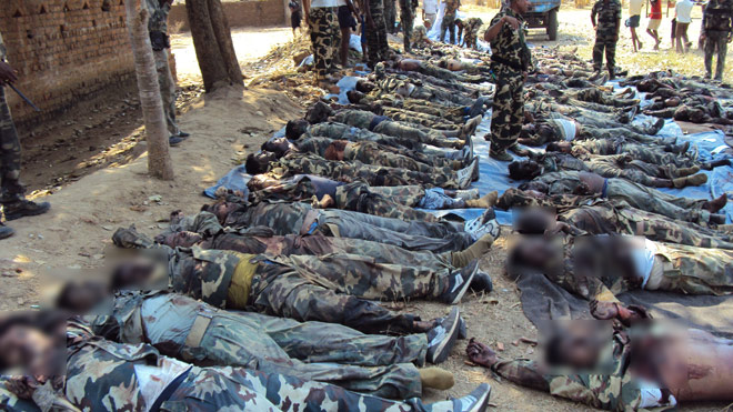 Les paramilitaires tués par la guérilla à Tadmetla